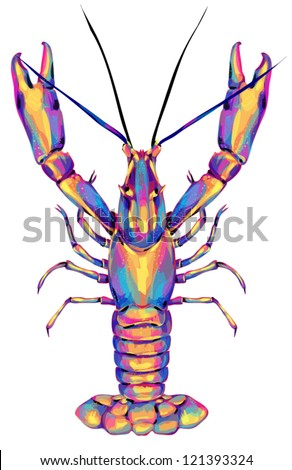 Lobster - stock vector