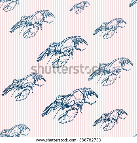 lobster seamless background