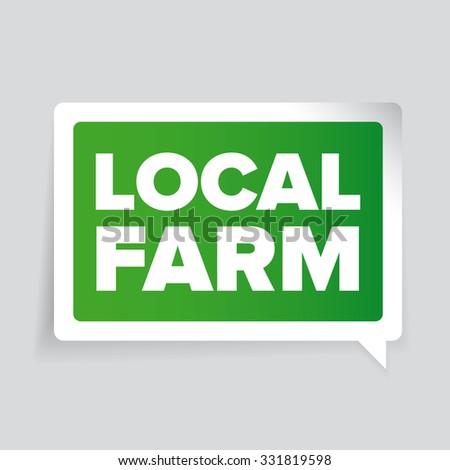 Local farm badge or label - stock vector