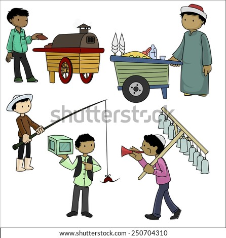 Local Sellers-vector - stock vector