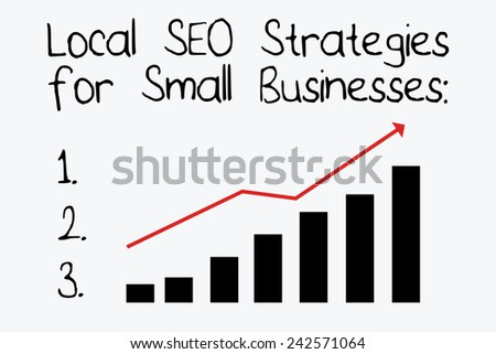 Local SEO Strategies for Small Businesses - stock vector