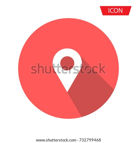 Location icon vector. Pin sign Isolated on background.