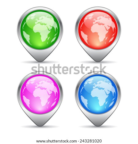 Location markers - stock vector