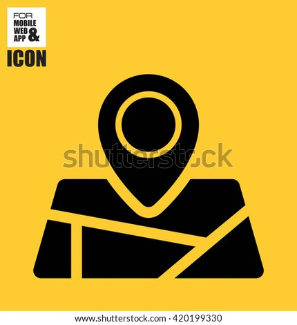 Location on map icon - stock vector