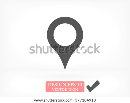 Location on the map icon, location on the map icon eps 10, location on the map icon vector, location on the map icon illustration, location on the map icon jpg, location on the map icon picture,  - stock vector