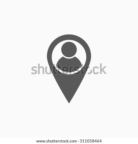 location people icon - stock vector