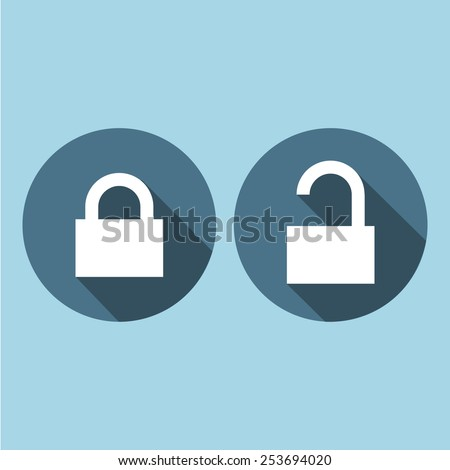 Lock and Unlock icon great for any use. Vector EPS10. - stock vector