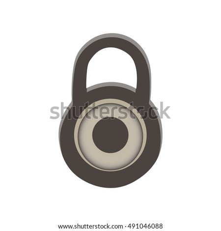 Lock closed padlock vector icons isolated on white background. Flat cartoon design illustration