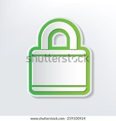 Lock design on white background,clean vector