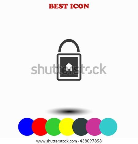 Lock house icon. Lock house illustration. Lock house web. - stock vector