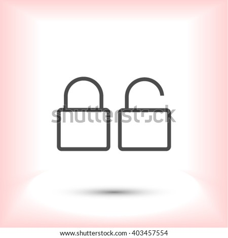 Lock Icon - stock vector