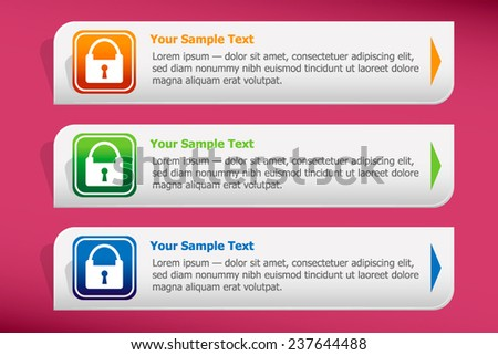 Lock icon and design template vector. Graphic  or website. - stock vector