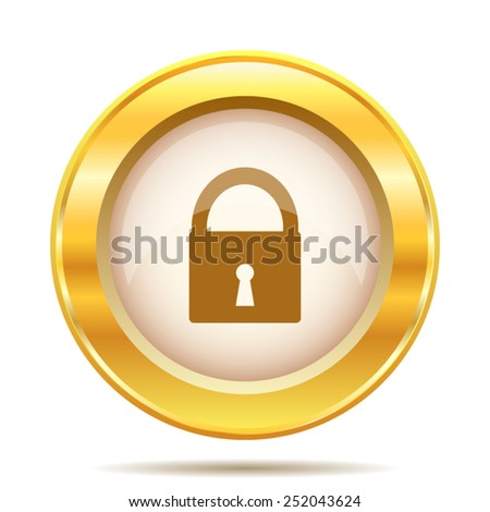 Lock icon. Internet button on white background. EPS10 vector.  - stock vector