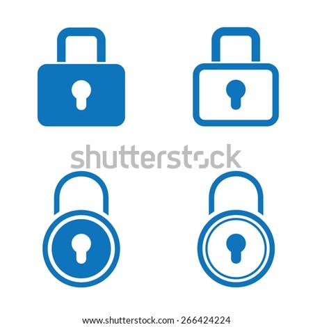 Lock Icon set - stock vector