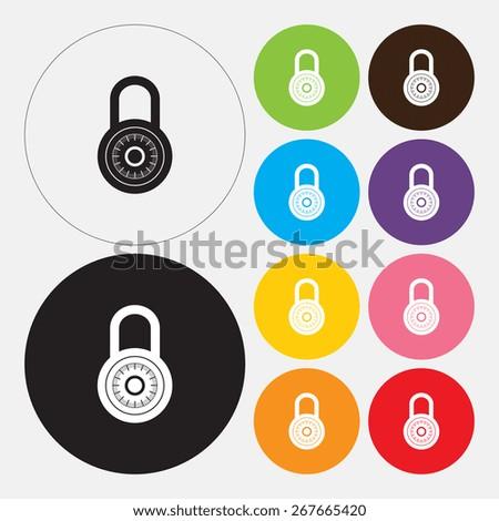 Lock icon - Vector - stock vector