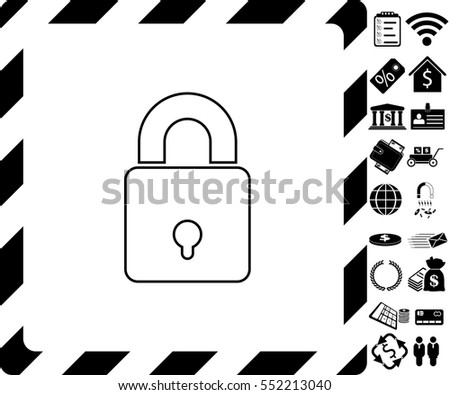 Lock icon with bonus symbols on white background.