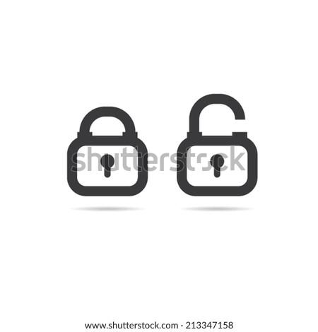 Lock Icons - stock vector