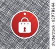 Lock label - stock vector