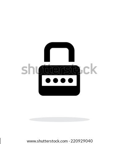 Lock with password icon on white background. Vector illustration. - stock vector