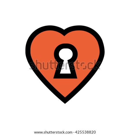 Locke, heart, valentine's day, love line icon. Pixel perfect fully editable vector icon suitable for websites, info graphics and print media. - stock vector