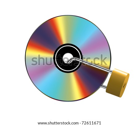 Locked CD - stock vector