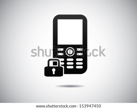Locked Cell phone - stock vector