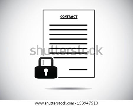 Locked Contract - stock vector