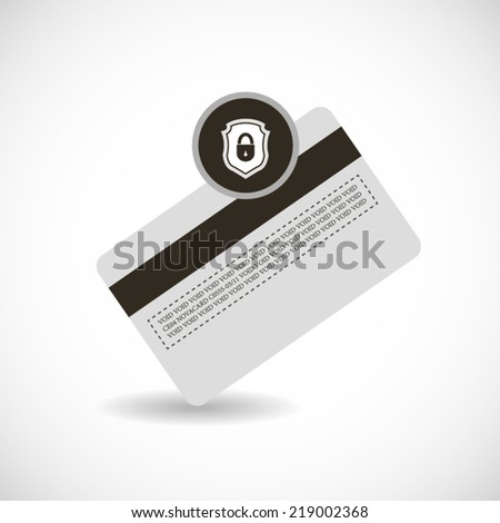 Locked credit card protection illustration or poster