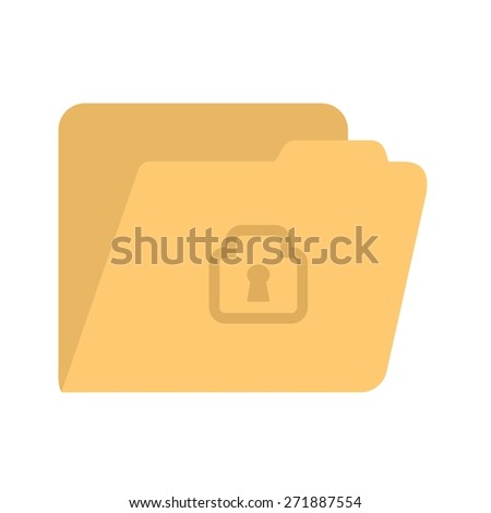 Locked file, folder, confidential icon vector image. Can also be used for banking, finance, business. Suitable for web apps, mobile apps and print media. - stock vector
