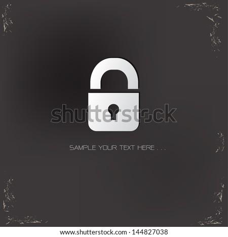 Locked,vector - stock vector