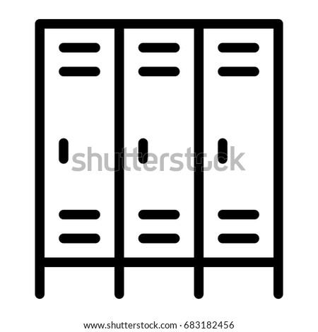 locker stock vector 683182456 shutterstock rh shutterstock com locker clipart black and white locker clipart free