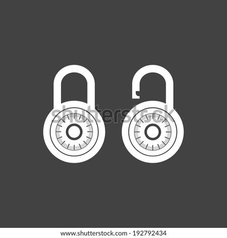 Locks icon on gray background - Vector - stock vector