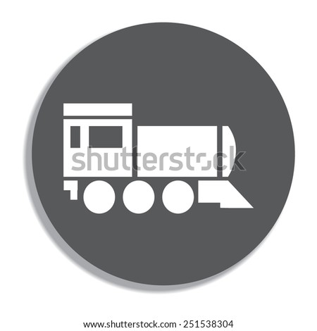 Locomotive icon . Vector illustration. on a grey background - stock vector