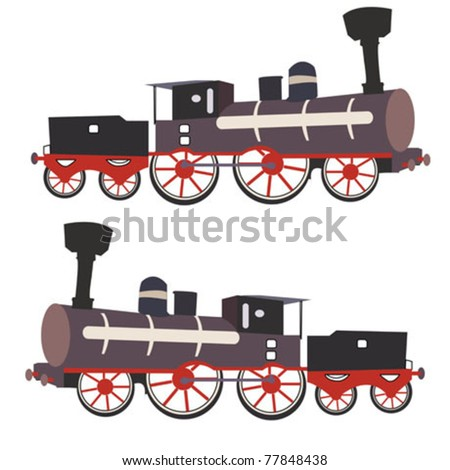 locomotive vector illustration - stock vector