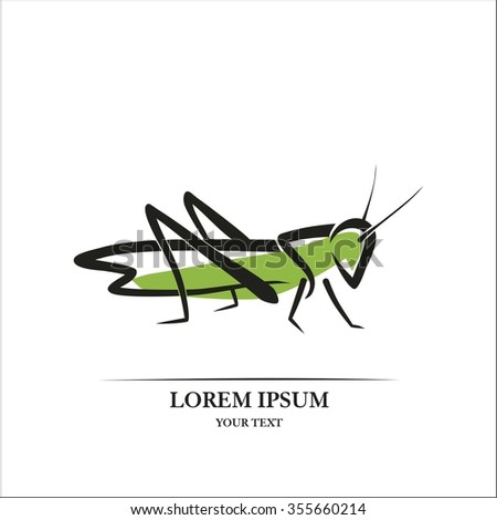 Locust line art - stock vector