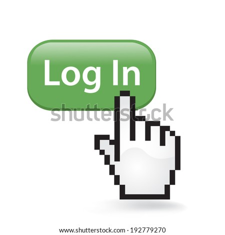 Log In Button - stock vector