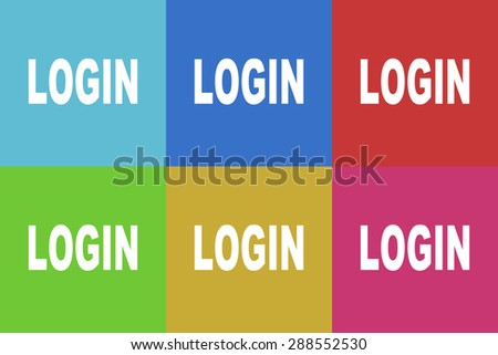 login flat design modern vector icons set for web and mobile app - stock vector