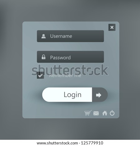 Login form page background - stock vector