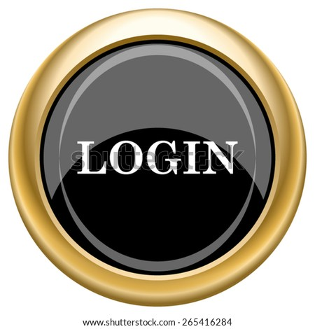 Login icon. Internet button on white  background. EPS10 Vector.  - stock vector