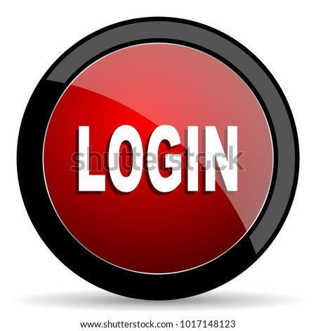 login red vector icon stock vector 1017148123 shutterstock rh shutterstock com Log Vector RedVector Courses Online