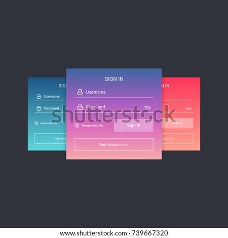 login screen sign form template mobileのベクター画像素材 739667320