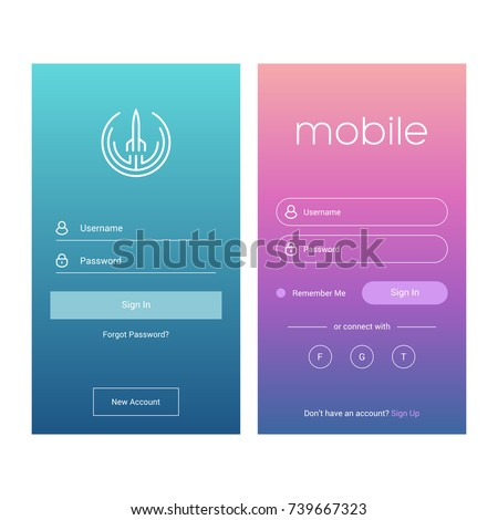Authorisation stock images royalty free images vectors for User interface design document template