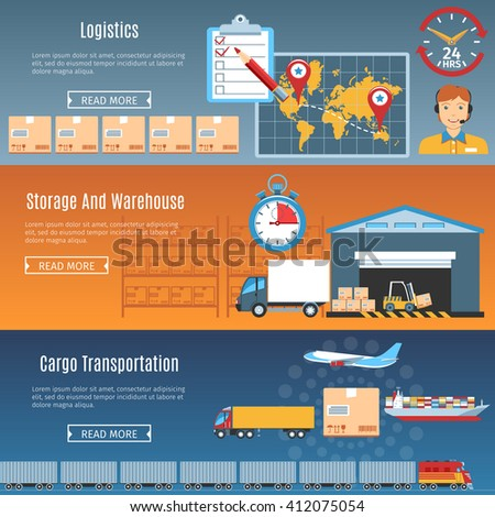 Logistic And Delivery Objects. Vector Illustration