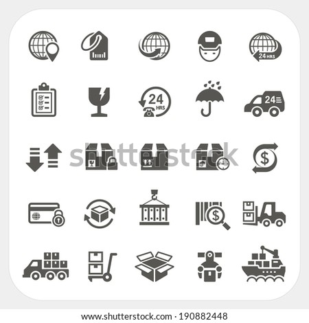 Logistic and Shipping icons set - stock vector