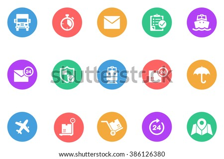 logistic icon flat - stock vector