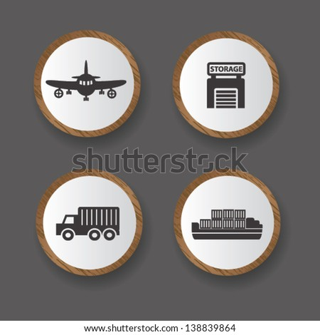Logistic icons,vector - stock vector