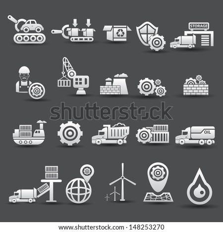Logistics and industry icons,vector - stock vector