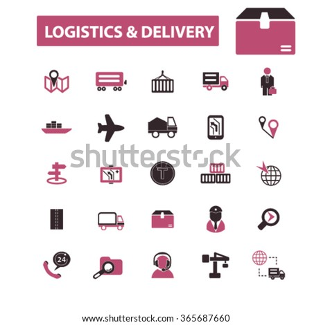 logistics, delivery, shipping, icons, signs vector concept set for infographics, mobile, website, application  - stock vector