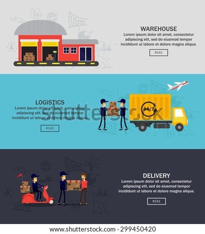 Logistics , Delivery , Warehouse infographic design , vector illustration - stock vector