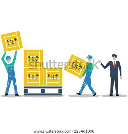 Logistics expert - stock vector